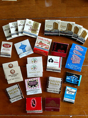 Lot of 28 old Las Vegas casino/hotel matchbook covers
