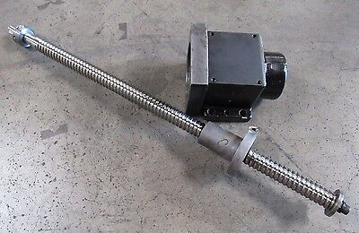 X-Axis Ball Screw Assembly From Cincinnati Milacron Sabre 500, 1264566A 107130 4