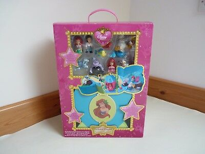Disney Store Exclusive Ariel The Little Mermaid Carry Playset 100% complete Box