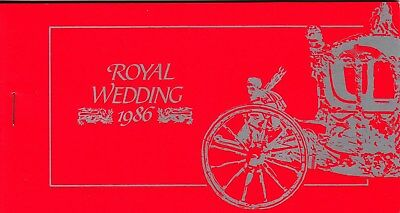 Tuvalu: 1986 Royal Wedding:Prince Andrew&Sarah stamp booklet.Imperforated panes