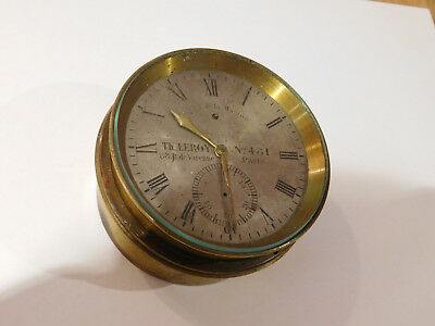 Antique Fusee Detent Chronometer By Leroy, Paris. Small Size. For Restoration.