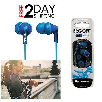 Hands-free Stereo Panasonic Ergo Fit Ear Blue Canal Headphones Earbuds