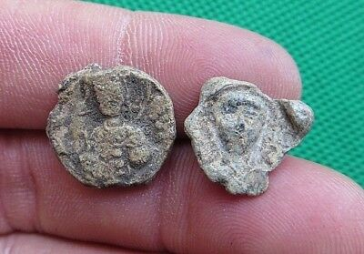 Lot Of 2 Byzantine Lead Seal.