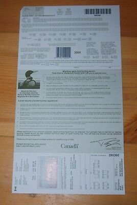 Weeda Canada FWH20 VF unused license with $8.50 Mallards 2004 Duck Stamp CV $25+