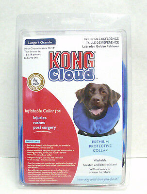 Kong Cloud EL1 Large E-Collar Inflatable Dog Collar For Injuries Rashes Surgery
