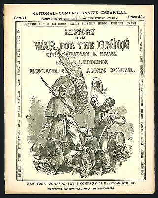 c1880 War for the Union magazine #11- Civil War with Engraving of Fort Donelson