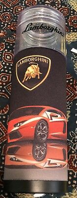 Lamborghini Glass Water Bottle With Coozie NWOT