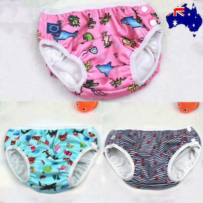 Reusable Swim Nappy Baby Cover Diaper Pants Nappies Swimmers Newborn Toddlers FD