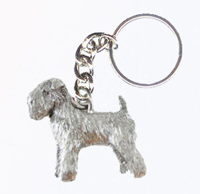 Maltese Dog Keychain Keyring Harris Pewter Made USA Key Chain Ring
