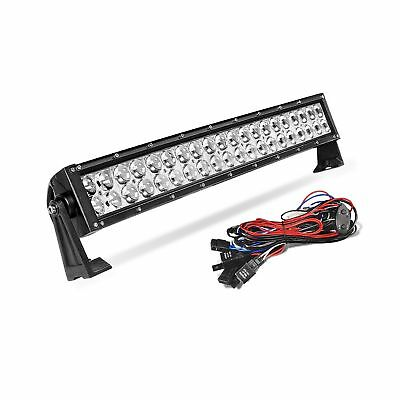 AUTOSAVER88 4D 24 Inch CURVED LED LIGHT BAR 200W with 8ft Wiring Harness Kit,...