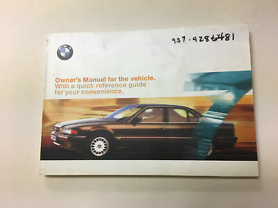 1999 bmw 740i 740il 750il owners manual parts service new original 7 rh picclick com 1994 BMW 740I 1996 BMW 740iL