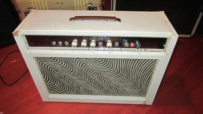 Vintage Original Airline Super 9035A Combo Amplifier White W/ Psychadelic Grill