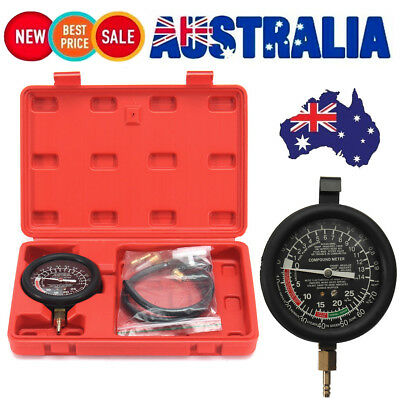 Engine Vacuum & Fuel Pump Pressure Tester Kit Gauge Leak Diagnostic Tool SOLOOP