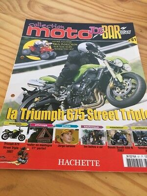 Joe Bar Team fasicule n° 61 collection moto Hachette revue magazine brochure