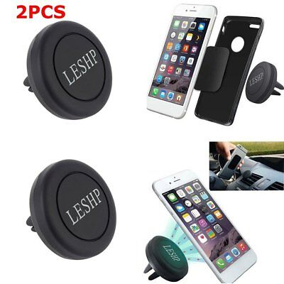 2 X Car Magnetic Air Vent Mount Holder Stand For Phone iPhone 6 Plus Samsung L5