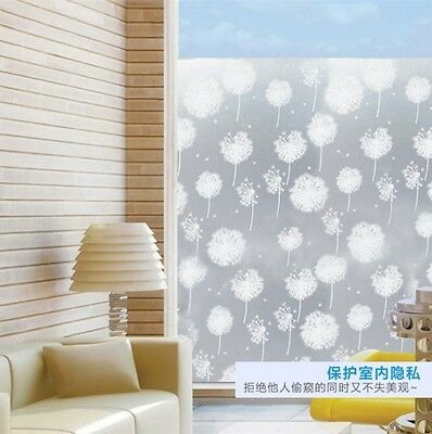 Frosted Static Cling Cover Window Glass Privacy Adhesive Film Sticker 40x200cm