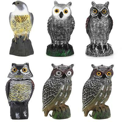 Garden PE Fake Prowler Owl With Moving Wing Bird Repellent Decoy Pest Scarecrow
