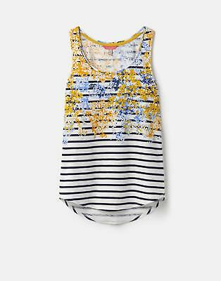 Joules 124585 Womens Printed Vest in Navy Floral Border