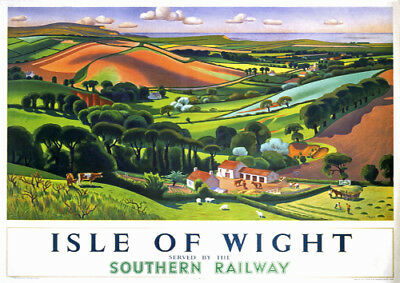 Vintage Style Railway Poster Isle of Wight Osborne House A4//A3//A2 Print