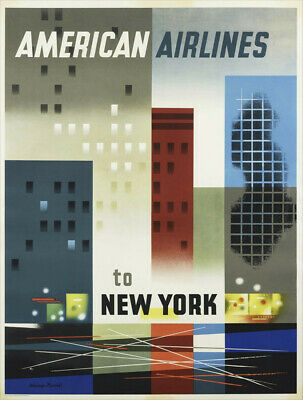 NEW YORK ..United Air Lines..Retro Travel//Promotional Poster A1A2A3A4Sizes