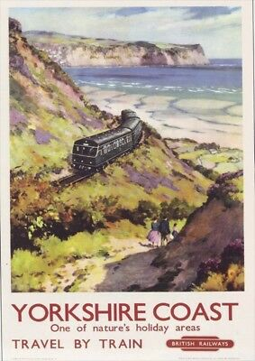 TR69 Vintage Hornsea Yorkshire NER Railway Poster Re-Print A4