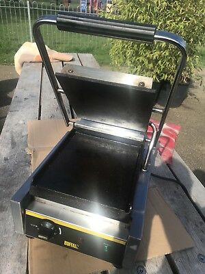 Buffalo GJ454 Single Flat Plate Panini Contact Grill Little Use Twickenham TW1