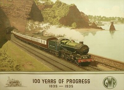 100 Years of Progress   GWR   Railway Vintage Poster   A1, A2, A3