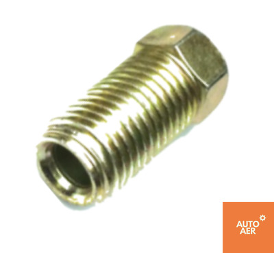 """Brake Nuts - 3/16"""" Long Steel Inverted Flare Nut Holden, Ford, Chev Qty 2"""