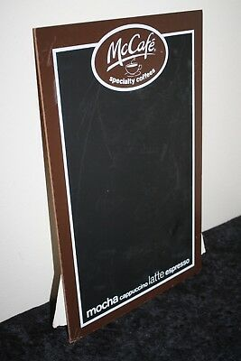 "McCafe Specialty Coffee Shop Menu Counter Top Chalk Board 17""H x 11""W Pre-Owned"