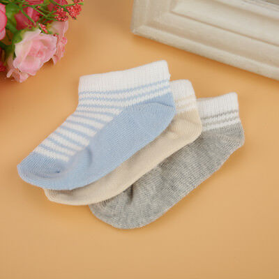 Baby Boys Girls Socks 3 Pairs Newborn Toddlers Ankle Design Socks 0-12 months