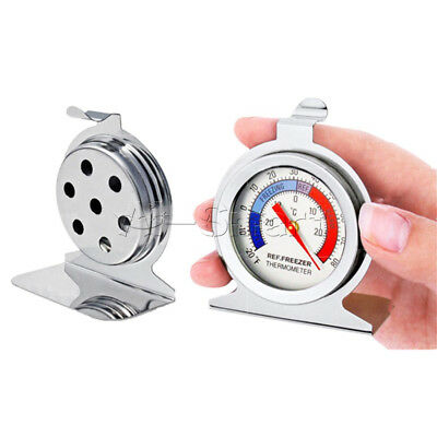 Home Stainless Steel Temperature Refrigerator Freezer Dial Type Thermometer