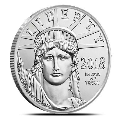 2018 1 Oz .9995 Fine $100 Platinum American Eagle - Gem Uncirculated (BU)