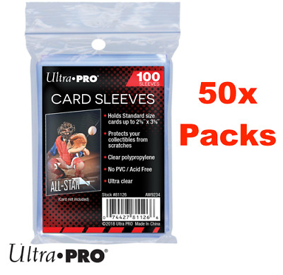 5000 Ultra Pro Soft Card Sleeves Clear Penny Protector Pokemon 100ct Packs x 50