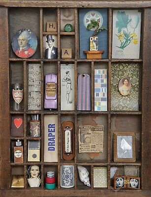 Unique Collection of Vintage Small Collectables for Printers Tray & Cabinets