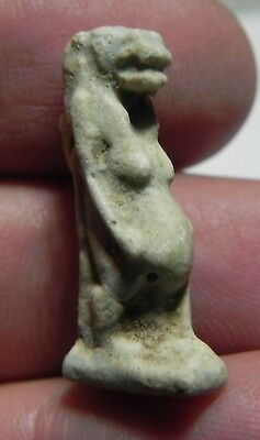 Zurqieh - As4796- Ancient Egypt, Nice Faience Taweret Amulet. 600 - 300 B.c