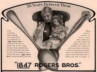 Ad Lot Of 3 1901-07  Ads 1847 Rogers Silver Avon Vintage Windsor