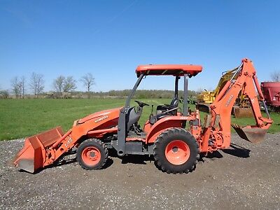 2011 Kubota L45 Tractor/Loader/Backhoe, 4WD, Hydro, NEW front tires, 1,848 hours