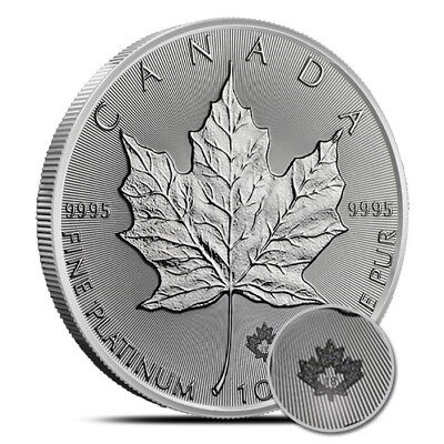 2018 1 Oz $50 Platinum Canadian Maple Leaf Coin .9995 - Gem Uncirculated (BU)