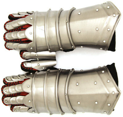 Medieval Warrior Metal Gothic Knight Style Gauntlets Functional Armor Gloves