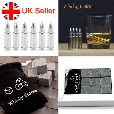 Whisky Bullet Stainless Steel Ice Cube Granite Stones Wine Cooler Beer Cooling