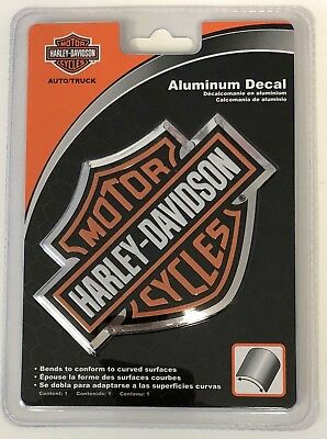 Harley-Davidson Bar & Shield Raised Aluminum Bendable Sticker Decal Emblem NEW