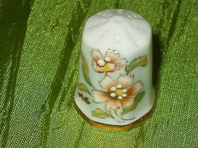 Fingerhut Thimble Porzellan **longton Hall England** Signum **mc**
