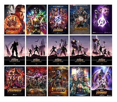 AVENGERS INFINITY WAR Movie A3 A4 POSTER PRINT 2018 Odeon ART BUY 1 GET 2 FREE