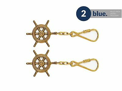 Brass Wheel Key Chain (Pair) Five Oceans - BC2212-M2