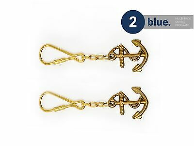 Solid Brass Anchor Keychain, Pair Five Oceans FO-2213-M2