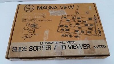 Magna View Slide Viewer With Working Bulb - Holds 40 Slides    SH