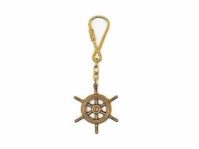 Solid Brass Steering Wheel Keychain Five Oceans FO-2212
