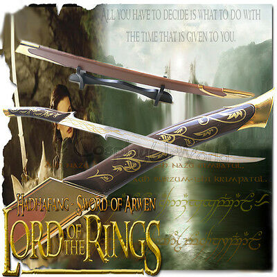 LOTR Lord Rings Hadhafang Sword Blade Princess Lady Elven Arwen, Scabbard, Stand