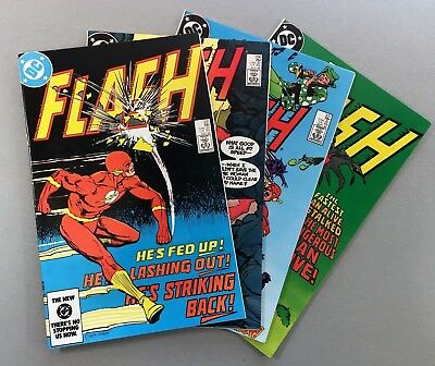 DC Comics FLASH #335 336 337 338 LOT of 4 COPPER AGE Issues CW TV SHIPS FREE!
