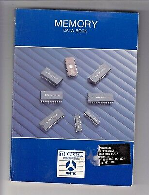 1987 Memory Data Book - Thomson Components , Mostek   /gx